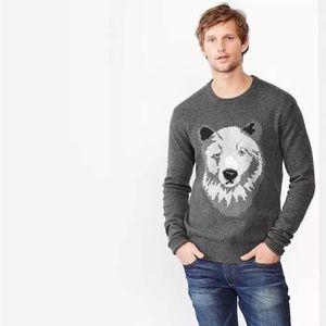 🌬GAP polar bear lambswool sweater Sz L🌫
